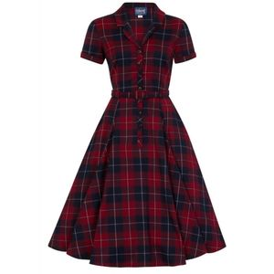Collectif Red White Blue Plaid Dress